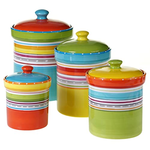 Multi Colored Kitchen Canister Sets - Coshocton