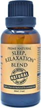 Prime Natural Sleep & Relaxation Essential Oil Blend 30ml / 1oz - Pure Undiluted Therapeutic Grade for Aromatherapy Scents Diffuser - Natural Sleep Aid, Depression Stress Anxiety Relief Calming