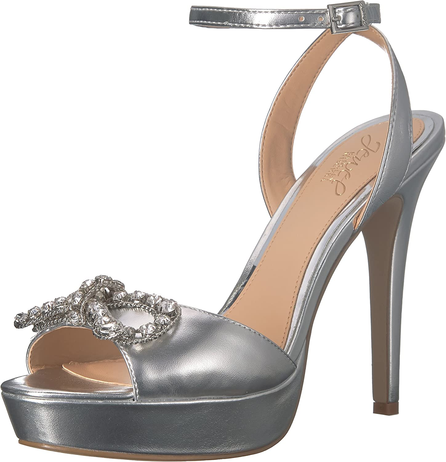 Badgley Mischka Womens Mildred Heeled Sandal