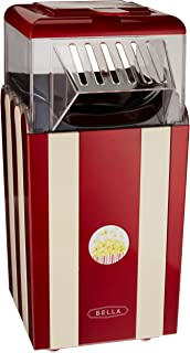 BELLA 13554 Hot Air Popcorn Maker, Red and White