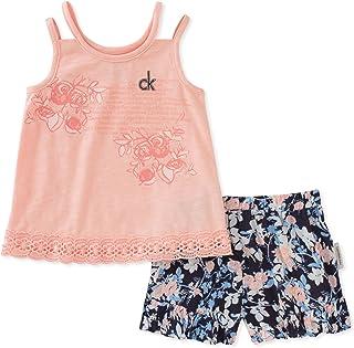 Calvin Klein Baby Girls Flounce Shorts Set