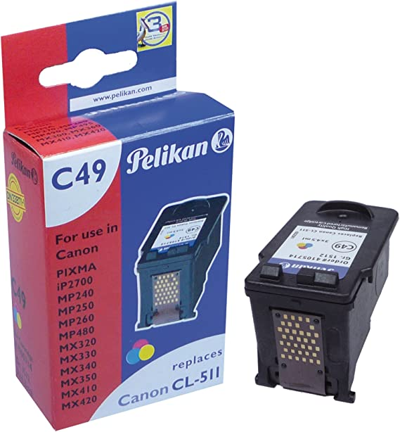 Pelikan Druckerpatrone C49 Ersetzt Canon Cl 511 3 Color Bürobedarf Schreibwaren