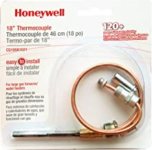 Honeywell CQ100A1021/U CQ100A1021 Replacement Thermocouple for Gas Furnaces, Boilers and Water Heaters, 18