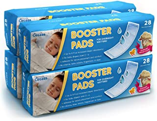 Cozees Baby Booster Pads, Diaper Doubler with Adhesive - Increase Diaper Absorbency for Overnight Wetters - 112 Count, 4 Packs of 28 Pads