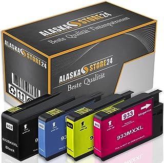 4X compatibles Cartuchos HP 932XL 933XL para HP Officejet 7612 6100