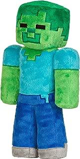 JINX Minecraft Zombie Plush Stuffed Toy (Multi-Color, 12
