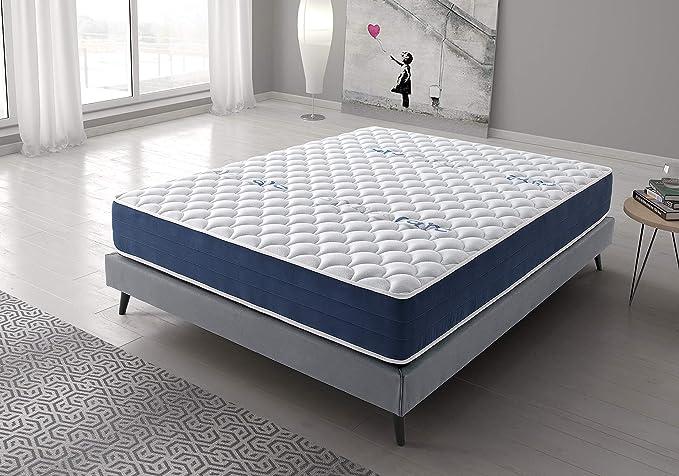 Living Sofa Colchón Reversible 135x190 cm Real Confort | Altura +/- 25 cm | Doble Cara Invierno/Verano con Sistema Visco Soft Adaptable | Alta ...