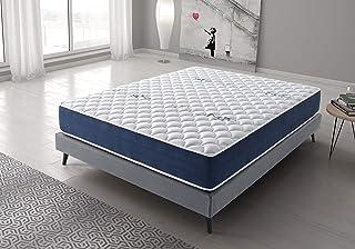 Living Sofa Colchón Reversible 160x200 cm Real Confort | Altura +/- 25 cm | Doble Cara Invierno/Verano con Sistema Visco Soft Adaptable | Alta Densidad | Sistema multicapas | 9 Zonas de Descanso