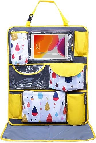 My Milestones Car Seat/Travel Organizer - Raindrop Yellow