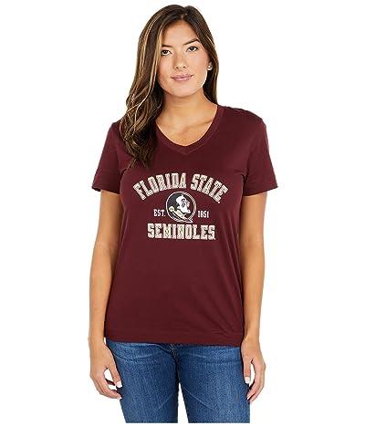 Champion College Florida State Seminoles University 2.0 V-Neck T-Shirt (Maroon) Women