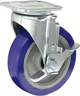 300 lbs Capacity 5 Wheel Dia E.R 1-1//4 Wheel Width Rigid Delrin Bearing Wagner Americaster Plate Caster Polyurethane on Polyolefin Wheel 6-1//4 Mount Height 3-3//4 Plate Length 2-3//4 Plate Width
