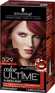 Schwarzkopf Color Ultime Hair Color Cream, 5.29 Vintage Red (Packaging May Vary)