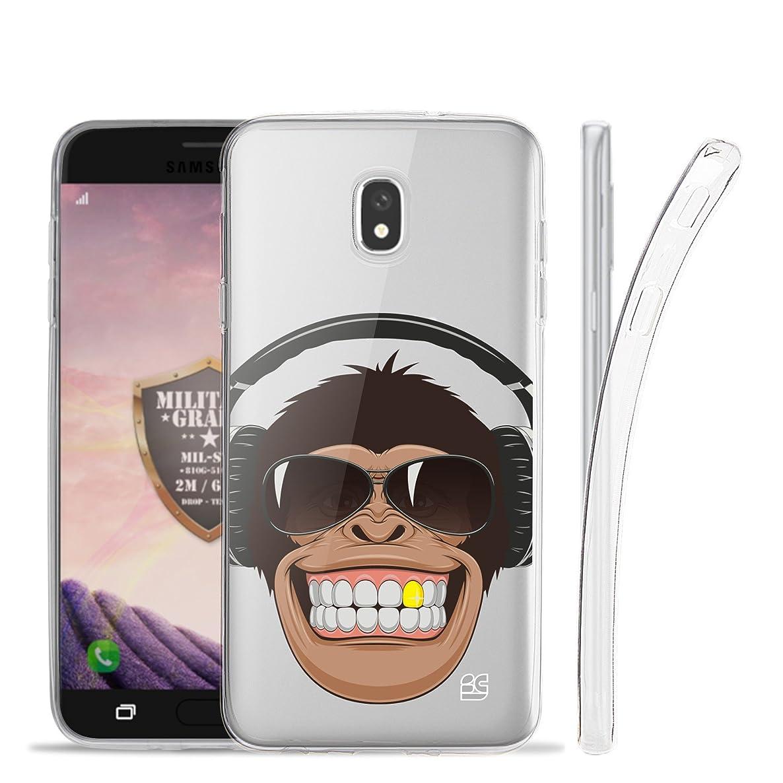 Beyond Cell Designed for Galaxy J7 (2018) SM-J737 / Galaxy J7 Crown / J7 Refine/Galaxy J7 Eon / J7 Star /J7 Top /J7 Aura Case, Clear Flexible Soft Gel Skin Cover - Smiling Monkey