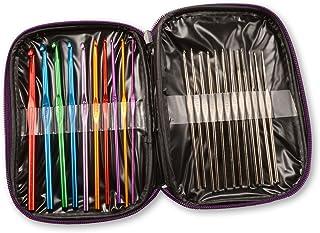 Générique Lot de 22 Crochets de Tricot en Aluminium, Multicolore