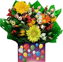 Celebration Gift Box with Hard Candy Bouquet - Great as a Birthday, Thank You, Get Well Soon, New Baby, New Home, Congratulations gift or for any occasion (Many OPTIONS available)