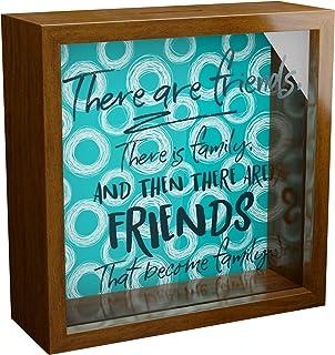 Unique Best friends gifts | Wooden Keepsake Box with Glass Front | Wall Decor Frames for Bestie | Friendship Memorabilia S...