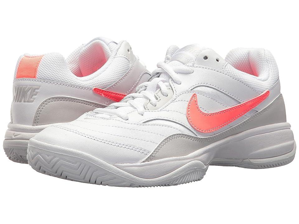 Nike Court Lite (White/Lava Glow/Vast Grey) Women