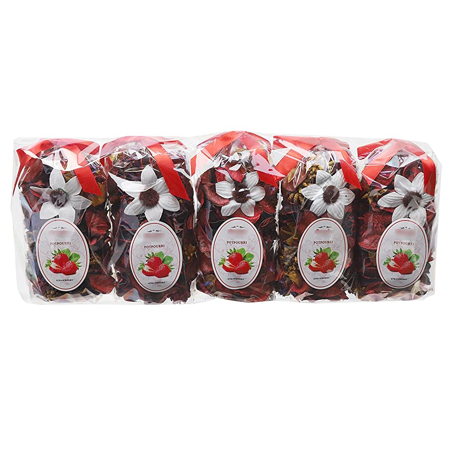 部族モーション手のひらQingbei Rina ポプリ 赤色 250g イチゴのポプリ ギフト 手作りの自然素材