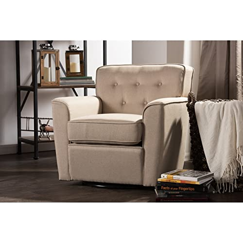 Upholstered Swivel Living Room Chairs: Amazon.com