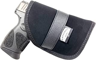 Black Scorpion Gear Concealed Carry, Ambidextrous Handgun Pocket Holster 4'' x 6'' | fits Most 6'' Subcompact Handguns |S&W MP Shield; Glock 26,27,29,30,33,42,43; Springfield XDS and Similar Handguns