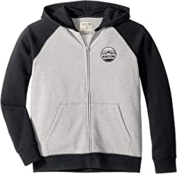 Stamped Mountain Full Zip Hoodie (Big Kids)