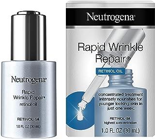 Neutrogena Rapid Wrinkle Repair Retinol Oil with Concentrated Retinol SA, Lightweight Anti-Wrinkle Treatment Serum for Deep Wrinkles 1 oz