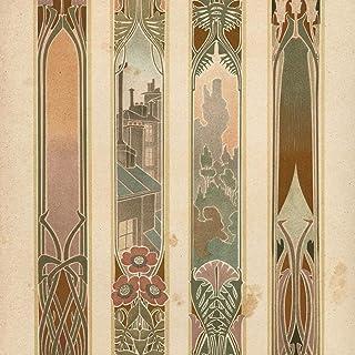 R. Beauclair art c.1910-20 Art Nouveau German color lithographed print beautiful