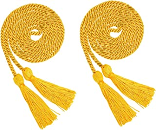ECONIE Graduation Honor Cords Polyester Yarn Graduation Tassel Accessory for High School College Graduation Bachelor Gown (Gold)