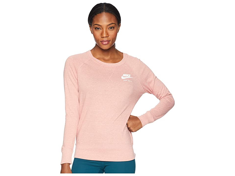 Nike Sportswear Gym Vintage Crew (Rust Pink/Sail) Women
