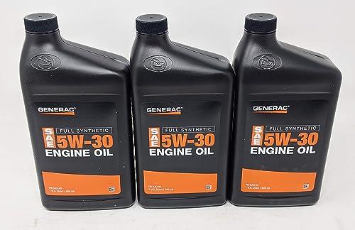 discount Generac wholesale Full Synthetic popular Motor Oil 5W-30 SN Quart Bottle Part# 0J5140 (Pack of 3) outlet sale