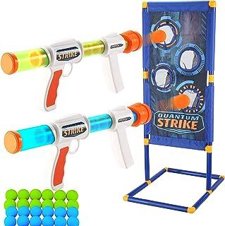 Sponsored Ad - JOYIN Foam Ball Popper Gun Toy Set with Standing Shooting Target, Foam Ball Popper Air Toy Guns, 24 Foam Ba...