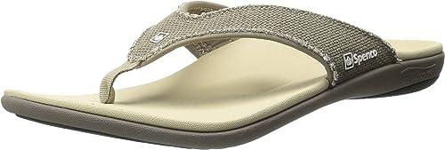Spenco Men& 039;s Yumi Canvas Sandal, Major grau, 9M Medium US