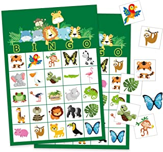 Happy Storm Safari Games Party Supplies Jungle Animals Bingo Game Cards Safari Jungle Party Games for Kids Bingo Birthday Activities Favors for 24 Players
