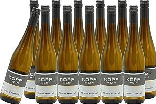 12 Flaschen 2019er Morio-Muskat Kabinett Weißwein lieblich 0,75l, direkt vom Erzeuger: Weingut Kopp in Ranschbach