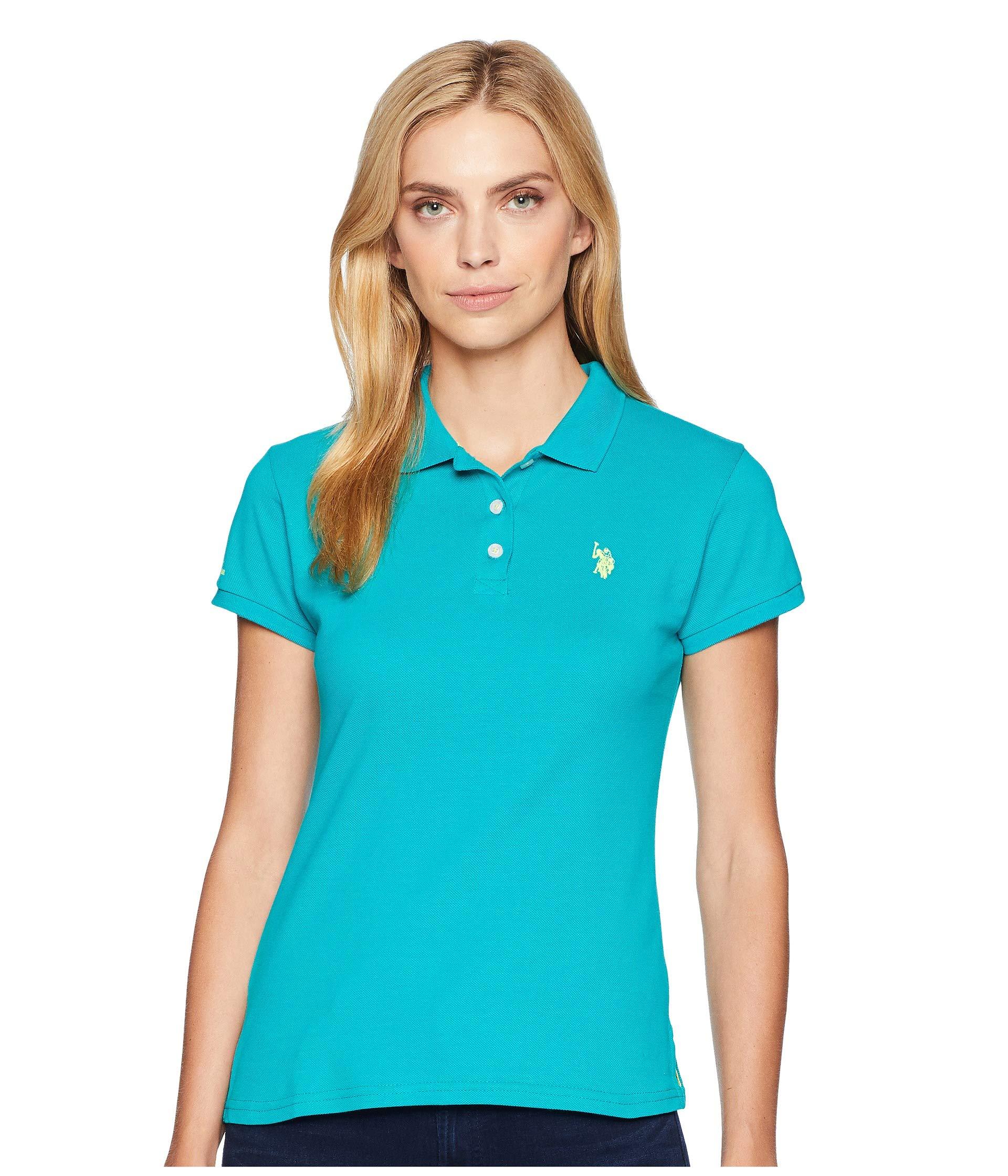 Camiseta Tipo Polo para Mujer U.S. POLO ASSN. Solid Pique Polo Shirt  + U.S. POLO ASSN. en VeoyCompro.net