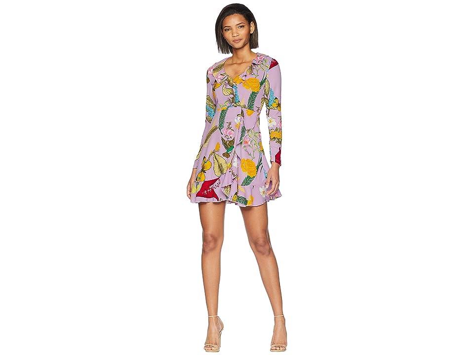 ROMEO & JULIET COUTURE Floral Ruffle Mini Dress (Lavender) Women