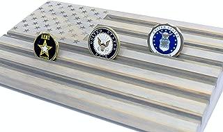 LOKI ENGRAVING Gray American Flag Challenge Coin Display