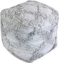 Christopher Knight Home Viraj Artisan Grey Fabric Cube Pouf