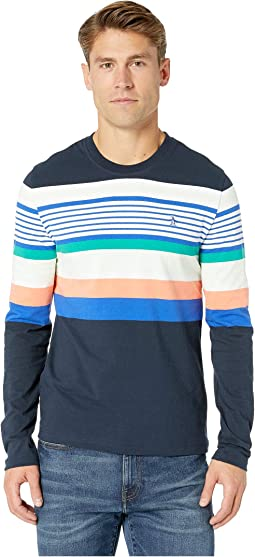 Long Sleeve Road Map Stripe Crew