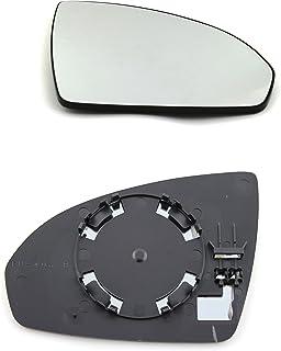 Driver laterale destra riscaldata anta vetro argento specchio con piastra di # c-shy//r-rtko12/ clip-on