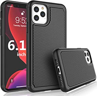 Tekcoo [Tmajor Series] Case for iPhone 11 / iPhone11 (6.1 inch) 2019 Shock Absorbing Slicone Rubber & Plastic Scratch Resistant Bumper Grip Cute Sturdy Hard Protecive Phone Cases Cover [Black]