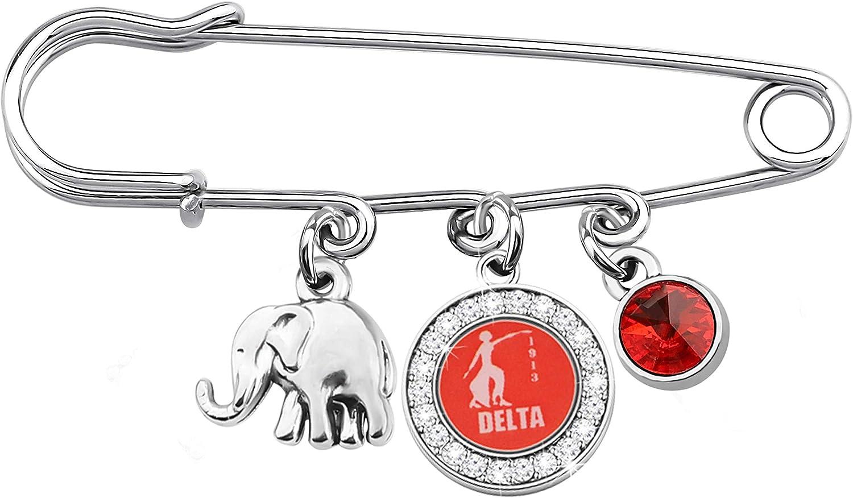 AKTAP DST Paraphernalia Sorority Gifts Womens Elephant Delta 1913 Brooch Pin