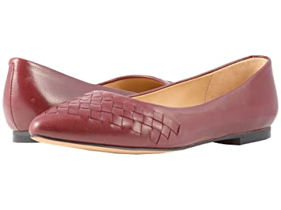 Trotters Estee Woven (Dark Red Woven Leather) Women
