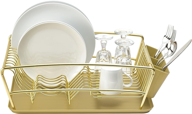 Better Houseware 3 Piece Dish Rack Set - gold