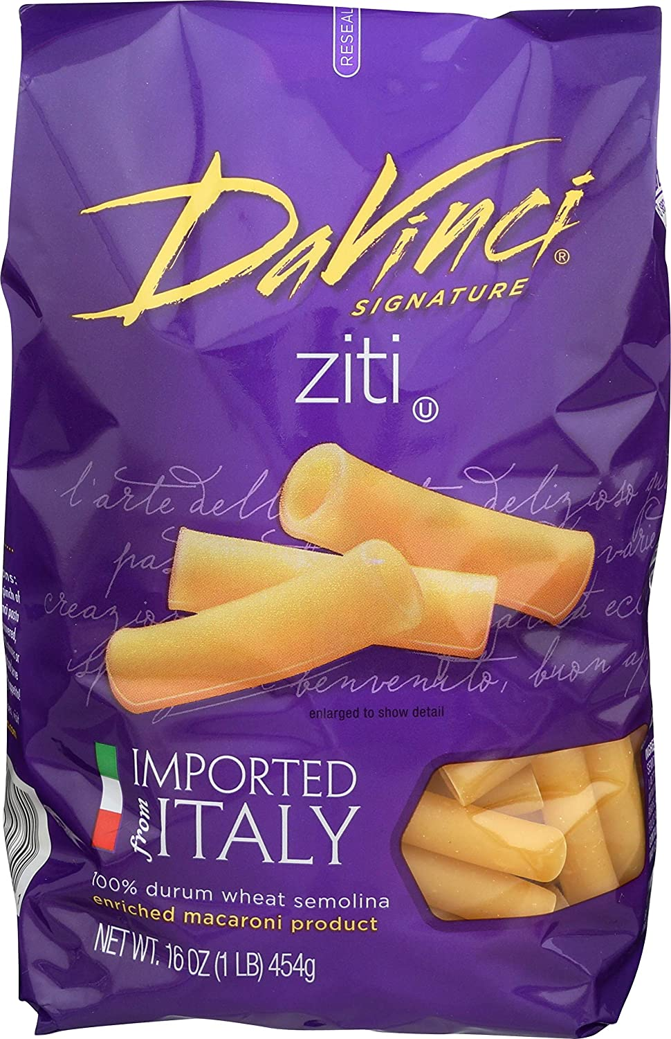 DaVinci Signature Cut Ziti 16 Ounce Recommendation Resealable Bags 1 Pack Max 90% OFF of