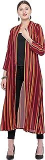 Serein Women's Pink Solid Longline 3/4th Sleeve Shrug/Jacket