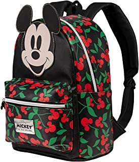 Mickey Mouse Cherry-Mochila Fashion, Negro
