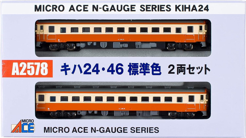 precios bajos Micro As N diesel tren de de de via 24, 46 Colors estaendar 2-Coche set modelo A2578 coche diesel del ferroCocheril  marcas en línea venta barata