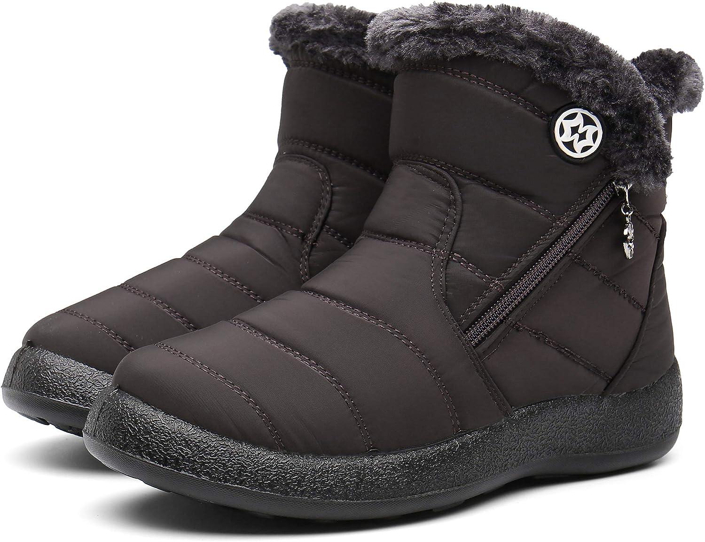 Gaatpot Damen Winterstiefel Wasserdicht Warm gef/ütterte Schneestiefel Winterschuhe Winter Kurzschaft Stiefel Boots Schuhe