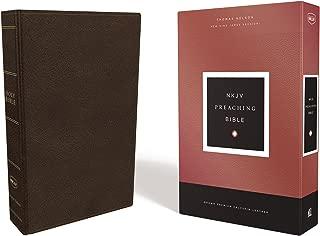 NKJV, Preaching Bible, Premium Calfskin Leather, Brown, Comfort Print: Holy Bible, New King James Version